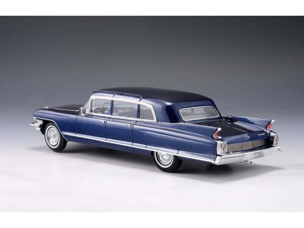 1:43 GLM Cadillac Fleetwood 75 Limousine 1962 синий металлик
