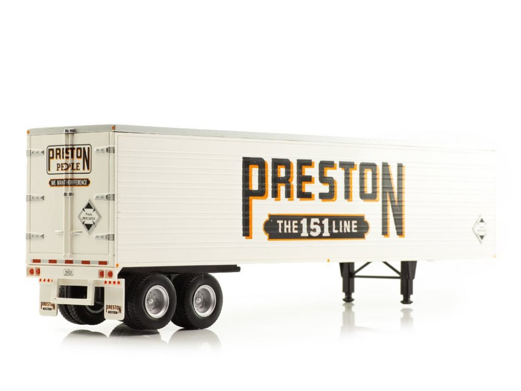 1:43 IXO Peterbilt 350 седельный тягач с полуприцепом Preston 1952 желтый с белым