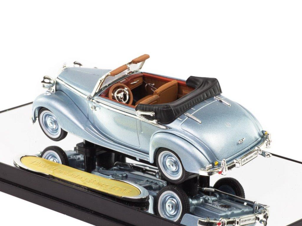 1:43 Signature Mercedes Benz 170S 1950 Cabriolet серо-голубой металлик