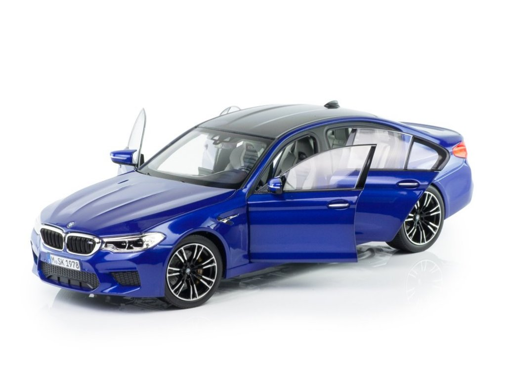 1:18 Norev BMW M5 2018 (F90) marina bay синий металлик