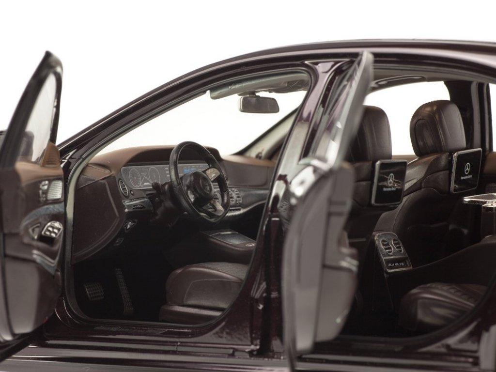 1:18 Norev Mercedes-Benz S-Class AMG-Line V222 (W222) 2018 темно-рубиновый металлик