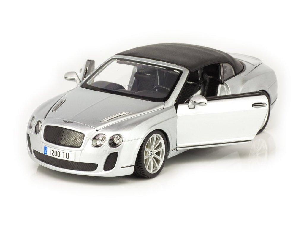 1:18 Maisto Bentley Continental Supersports Convertible 2012 серебристый