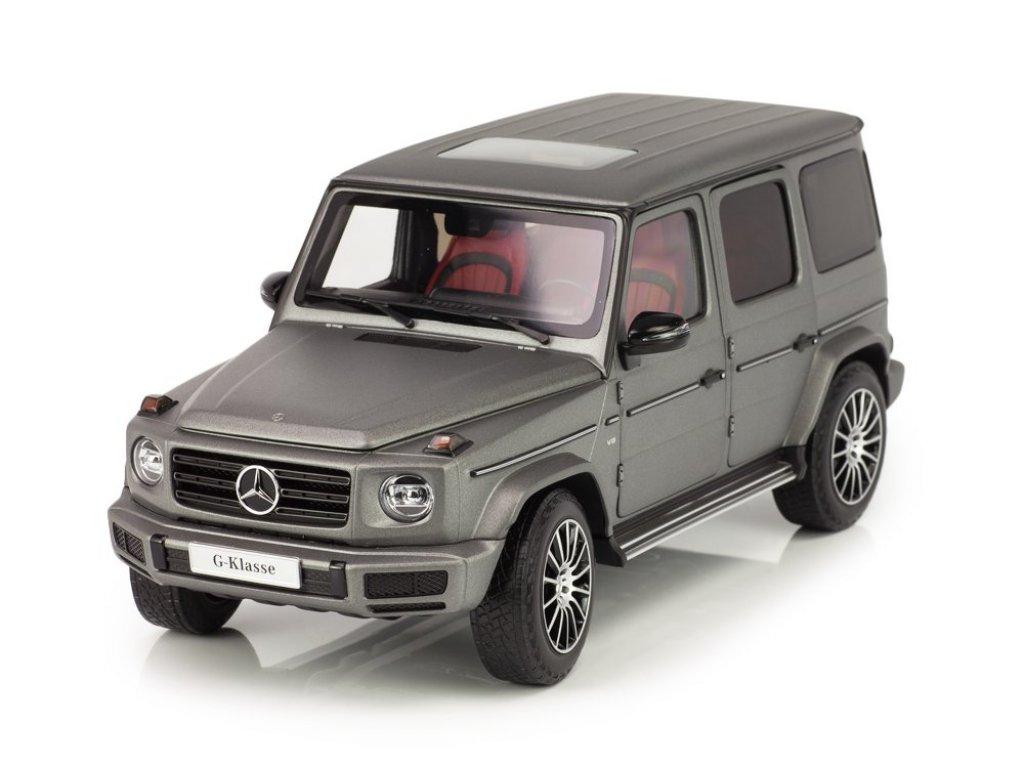 1:18 Minichamps Mercedes-Benz G-class 2018 W463 II (новый Гелендваген) designo platinum magno матовый серебристо-серый металлик