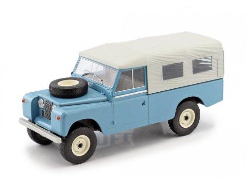 1:18 IXO Land Rover 109 Pick Up Series II 4x4 (с тентом) 1959 голубой с серым