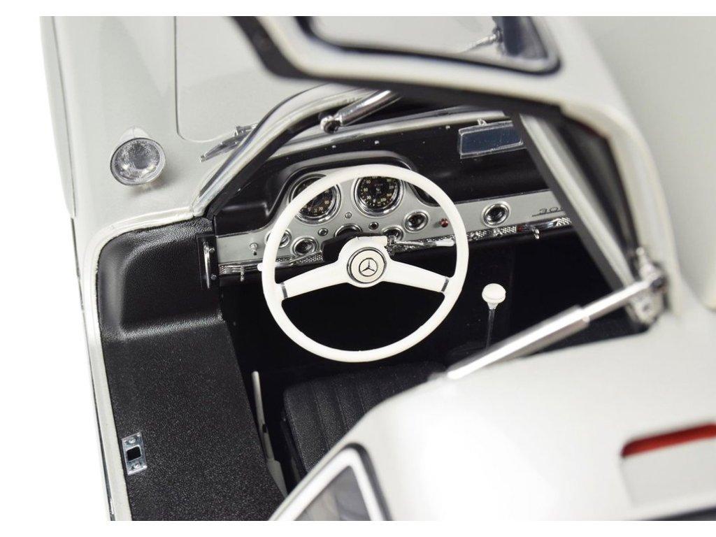 1:8 PremiumX Mercedes-Benz 300SL Gullwing 1954 W198 серебристый