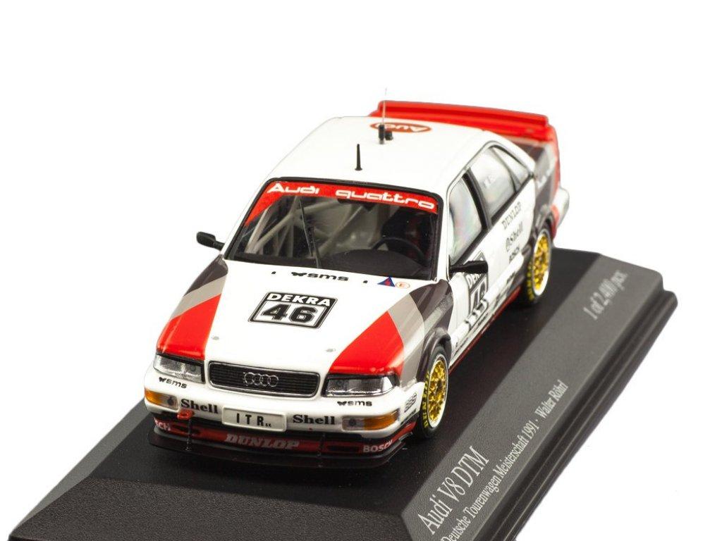 1:43 Minichamps Audi V8 Quattro #46 DTM 1990 Walter Röhrl