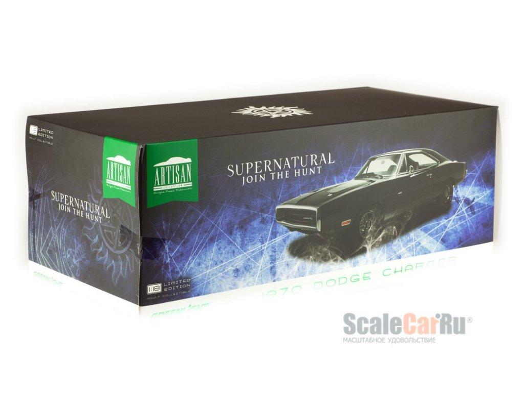 1:18 GreenLight Dodge Charger 1970 черный Supernatural (из сериала Сверхестественное)