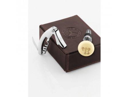 Mercedes Accessories Винный набор: штопор и пробка в кожаном футляре