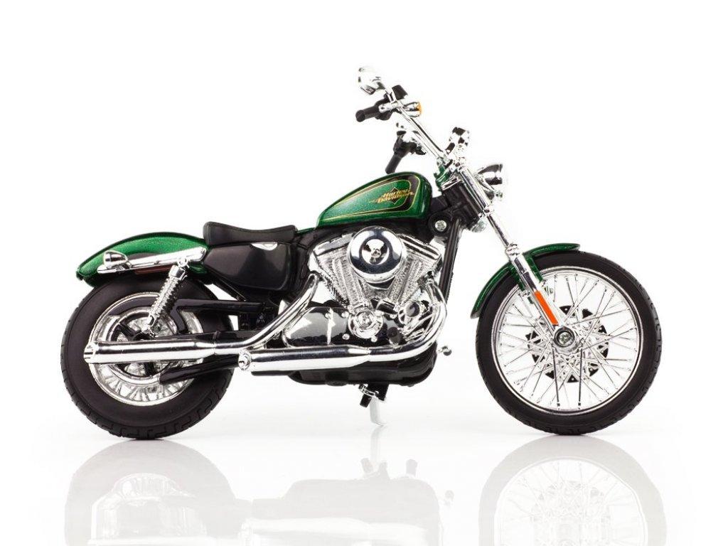 1:12 Maisto Harley-Davidson XL1200V Seventy-Two 2013 зеленый металлик