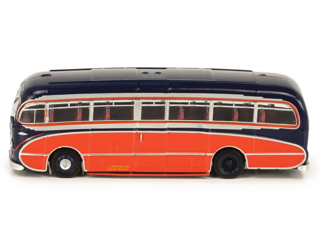 1:72 Atlas Leyland Tiger Cub Burlingham Seagull Coach J.T.Whittle & Sons 1951 синий с красным