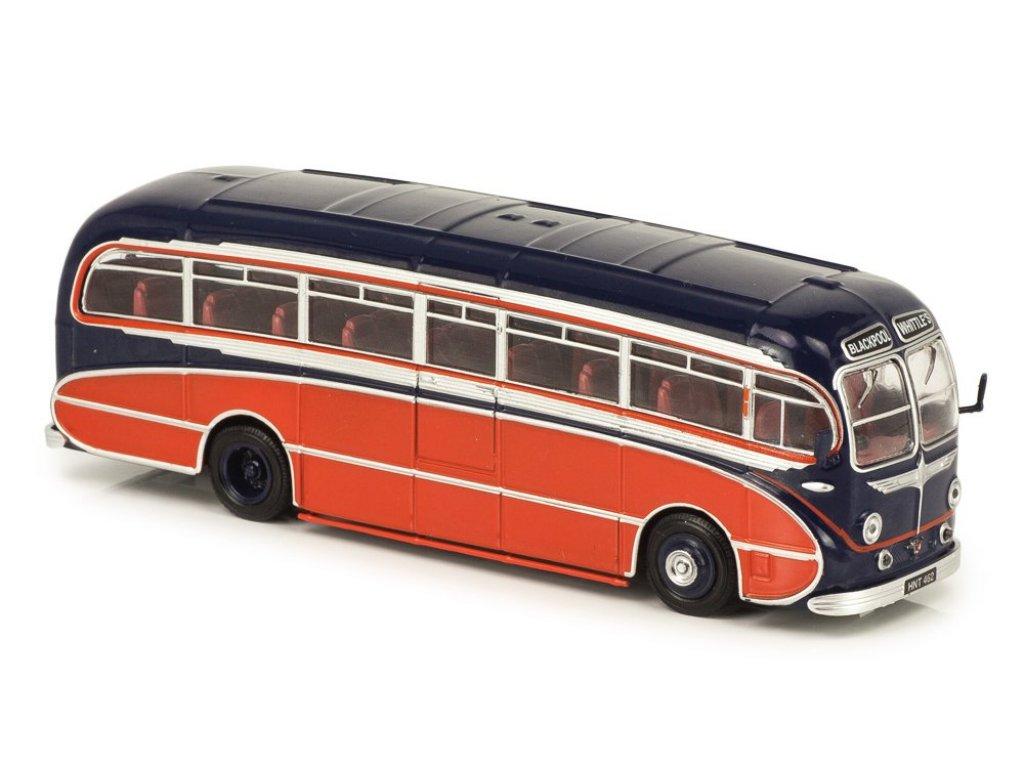 1:72 Atlas Leyland Tiger Cub Burlingham Seagull Coach J.T.Whittle & Sons 1951 синий с красным