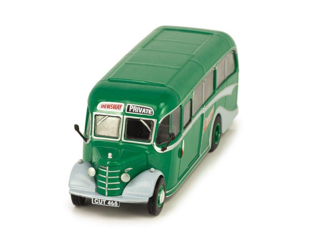 1:72 Atlas Bedford OB Duple Vista Coach Ron W. Dewsway Tours 1944 зеленый