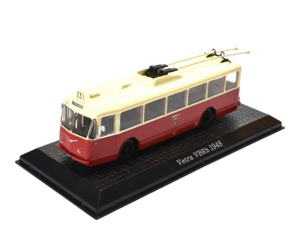 1:72 Atlas троллейбус Vetra VBRh 1948 бежевый с красным