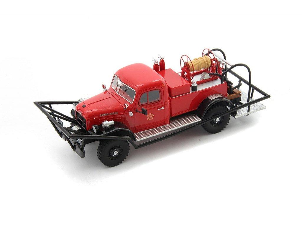 1:43 AutoCult Dodge WDX Power Wagon Brush Breaker 1946 красный