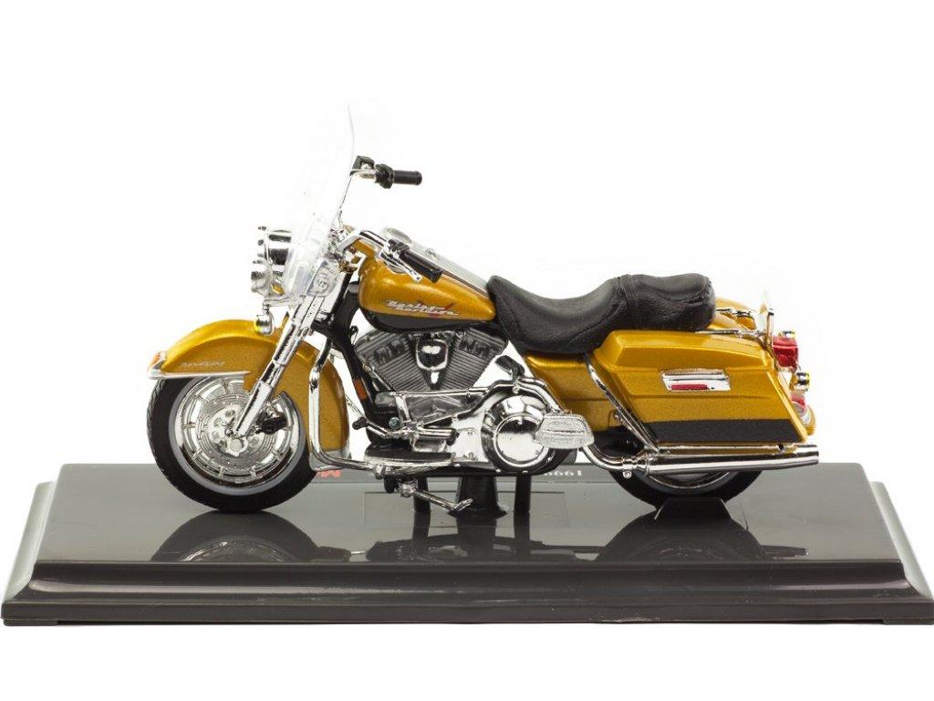 1:18 Maisto Мотоцикл Harley-Davidson FLHR Road King 1999 золотой