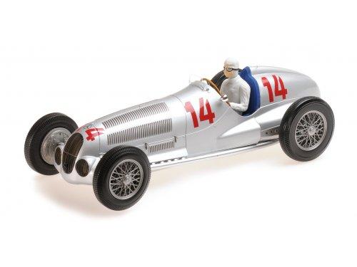 1:18 Minichamps Mercedes W125, Manfred V. Brauchitsch - 2nd place GP von Deutchland, 1937