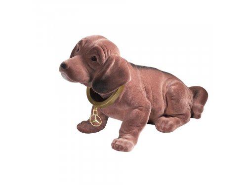 Mercedes Accessories Собачка, качающая головой, коричневая с латунной звездой Mercedes для украшения полки автомобиля