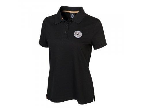 Mercedes Accessories Рубашка-поло женская черного цвета cо звездой Mercedes