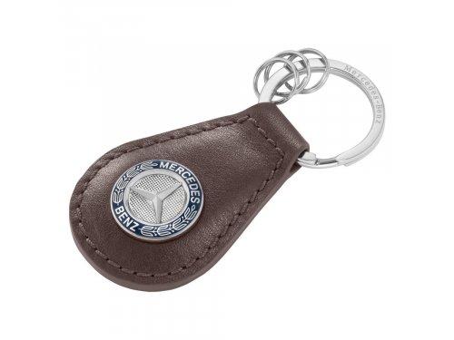 Mercedes Accessories Мужской брелок для ключей из воловьей кожи с эмблемой Mercedes
