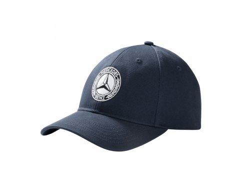 Mercedes Accessories Мужская хлопковая бейсболка темного-синего цвета со звездой Mercedes