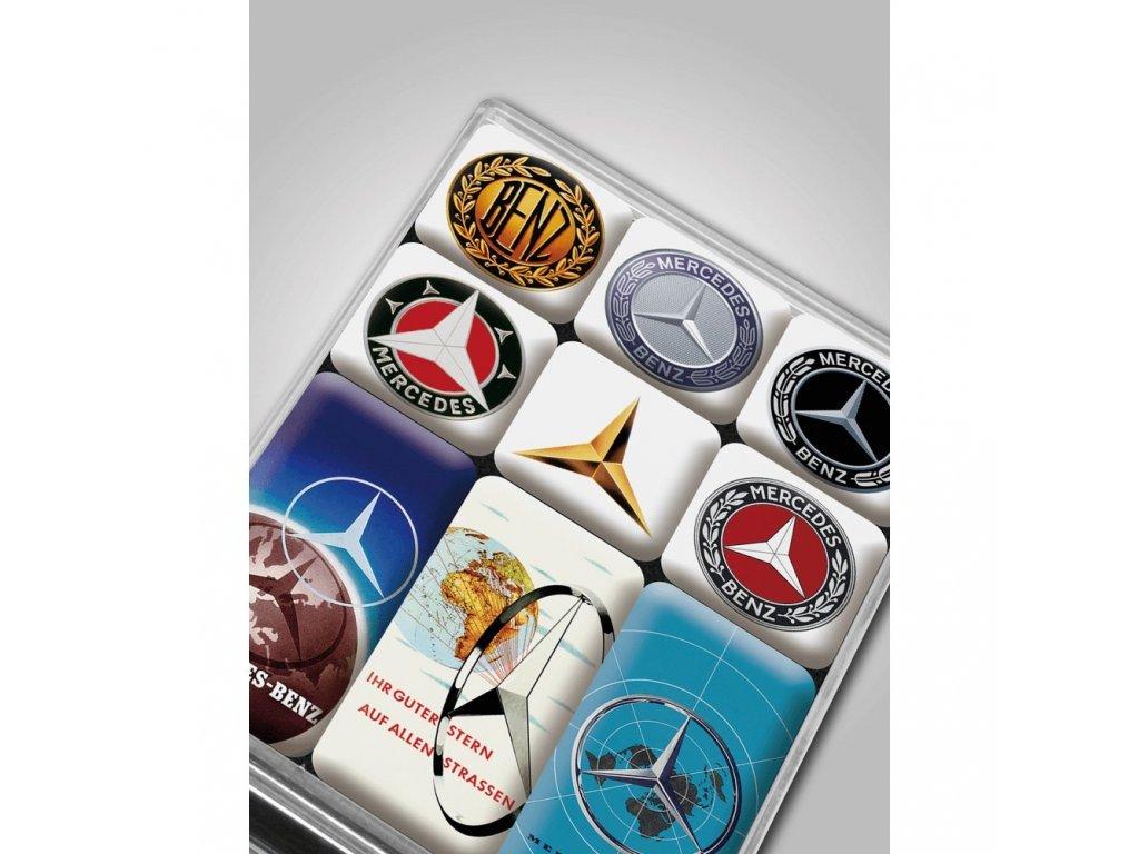 Mercedes Accessories Сувенирный набор магнитов с эмблемами Mercedes разных лет