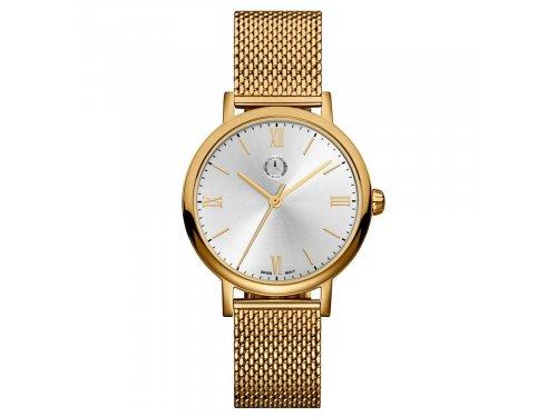 Mercedes Accessories Женские наручные часы золотистого цвета с плетеным стальным браслетом