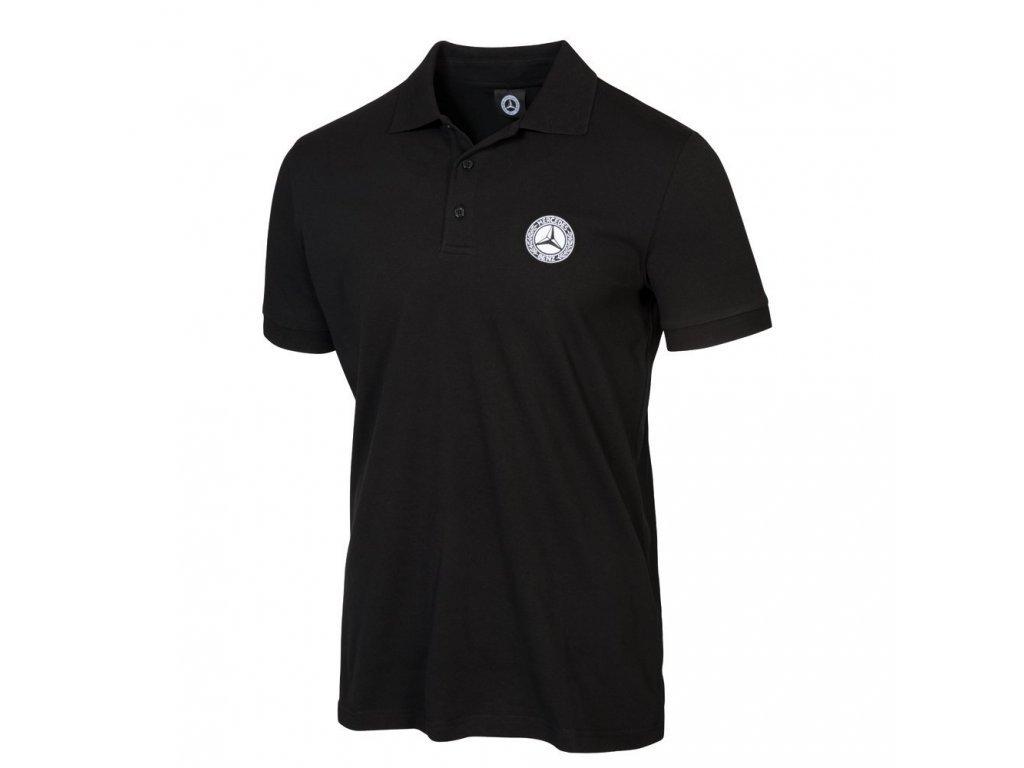 Mercedes Accessories Рубашка-поло мужская черного цвета с логотипом Mercedes 1926 года