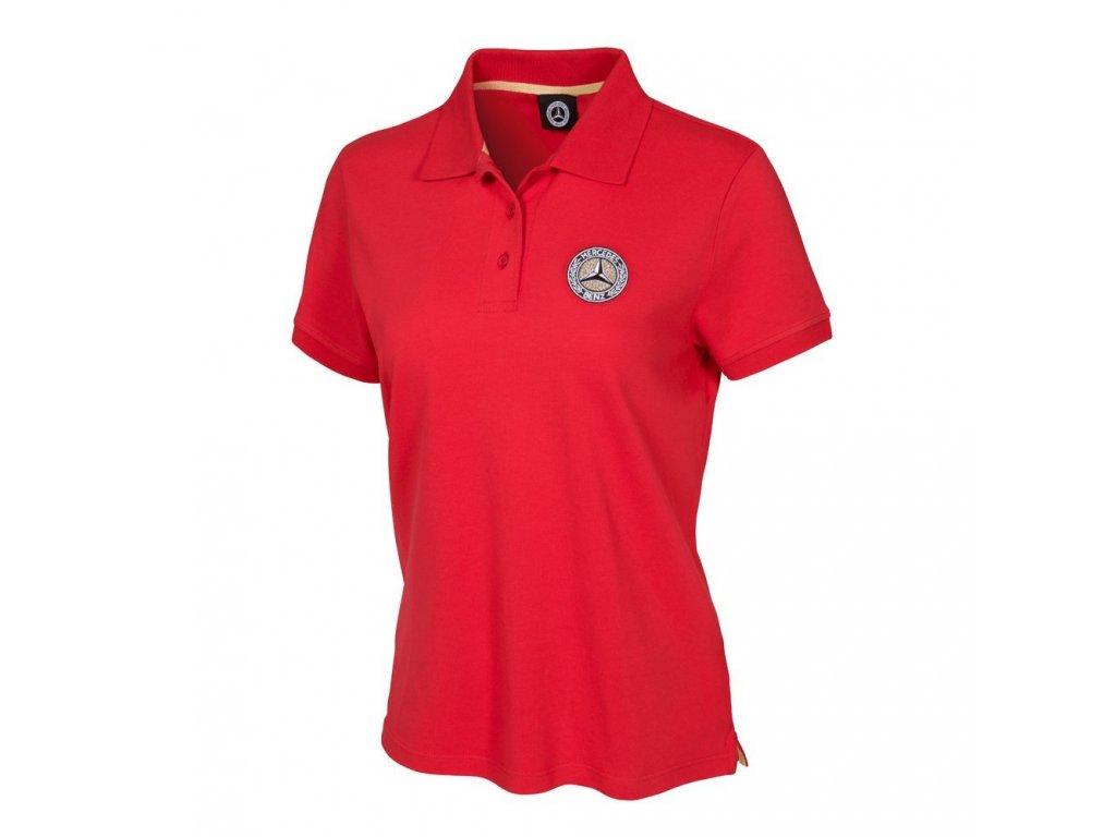 Mercedes Accessories Рубашка-поло женская бордового цвета с эмблемой Mercedes