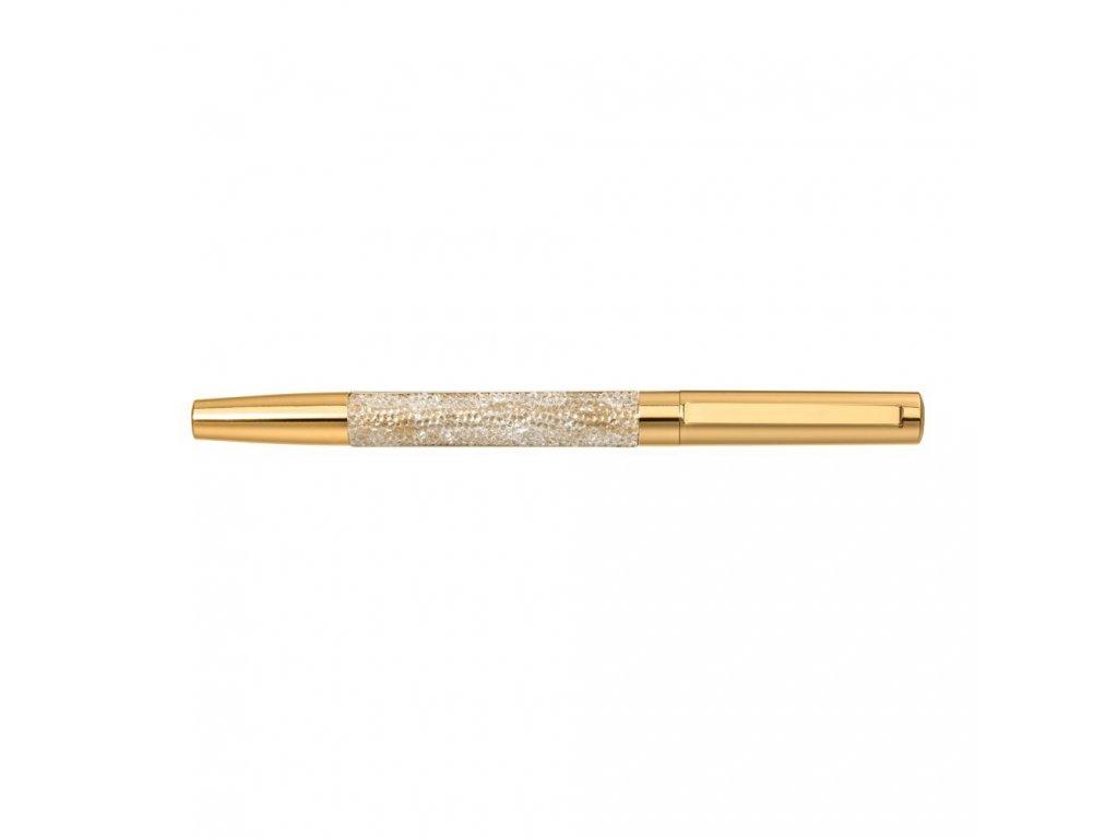 Mercedes Accessories Латунная шариковая ручка золотистого цвета, инкрустированная кристаллами Swarovski