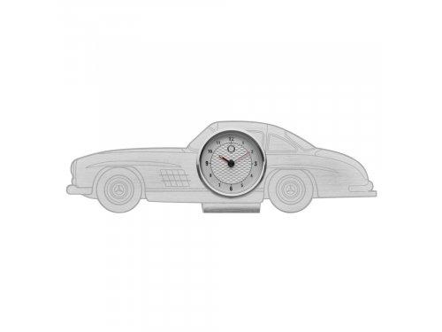 Mercedes Accessories Металлические настольные часы серебристого цвета в стиле Mercedes-Benz 300 SL