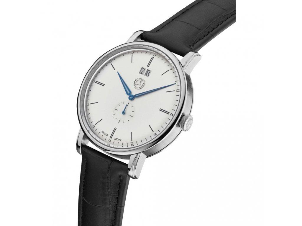 Mercedes Accessories Мужские наручные часы с классическим дизайном и черным кожаным ремешком