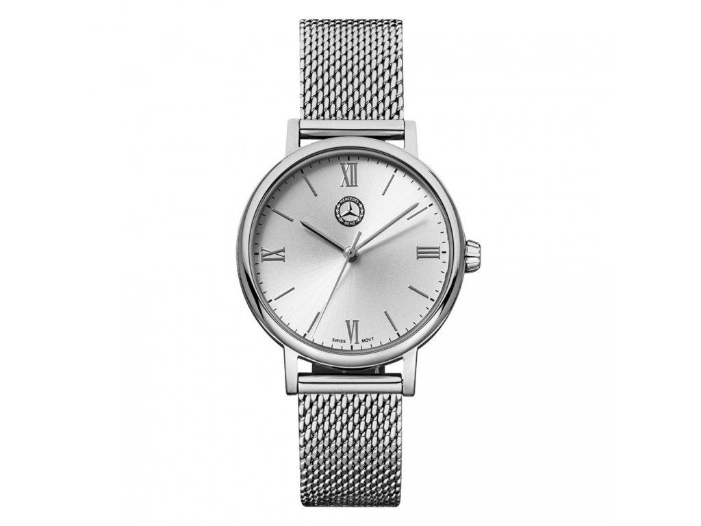 Mercedes Accessories Женские наручные часы из стали с серебристым плетеным браслетом