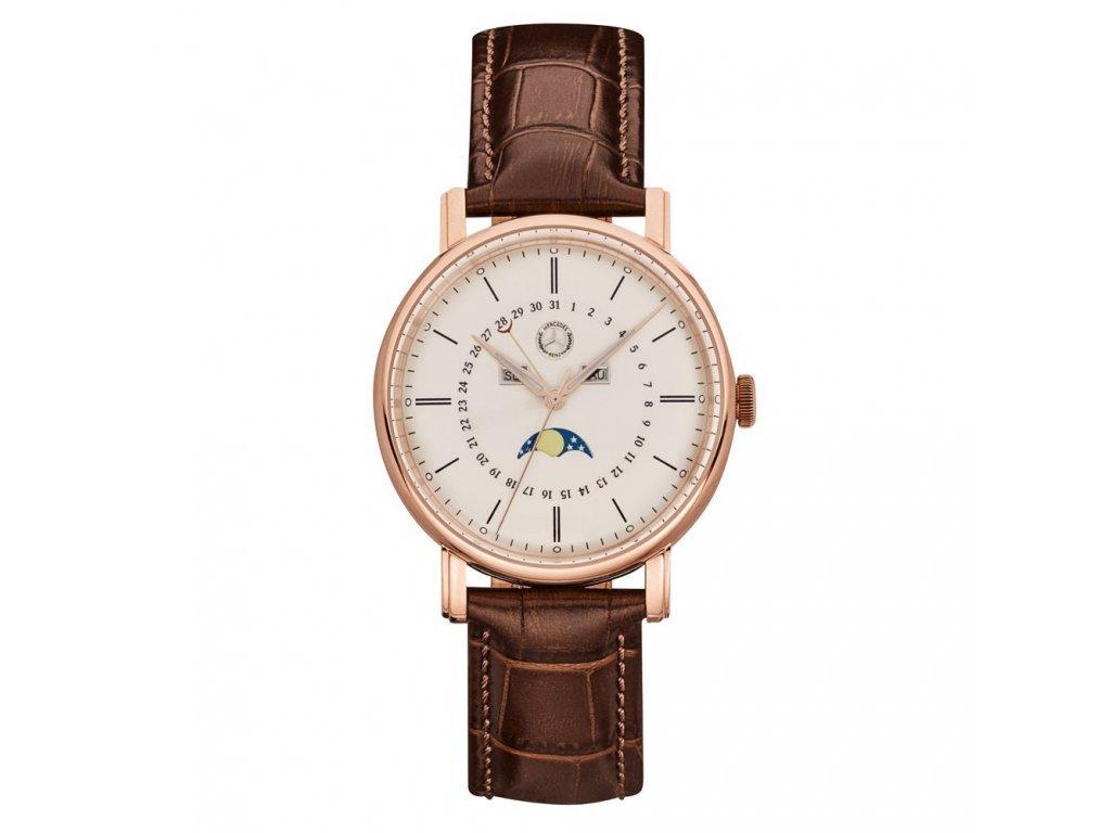 Mercedes Accessories Мужские наручные часы со светящимся циферблатом и кожаным ремешком