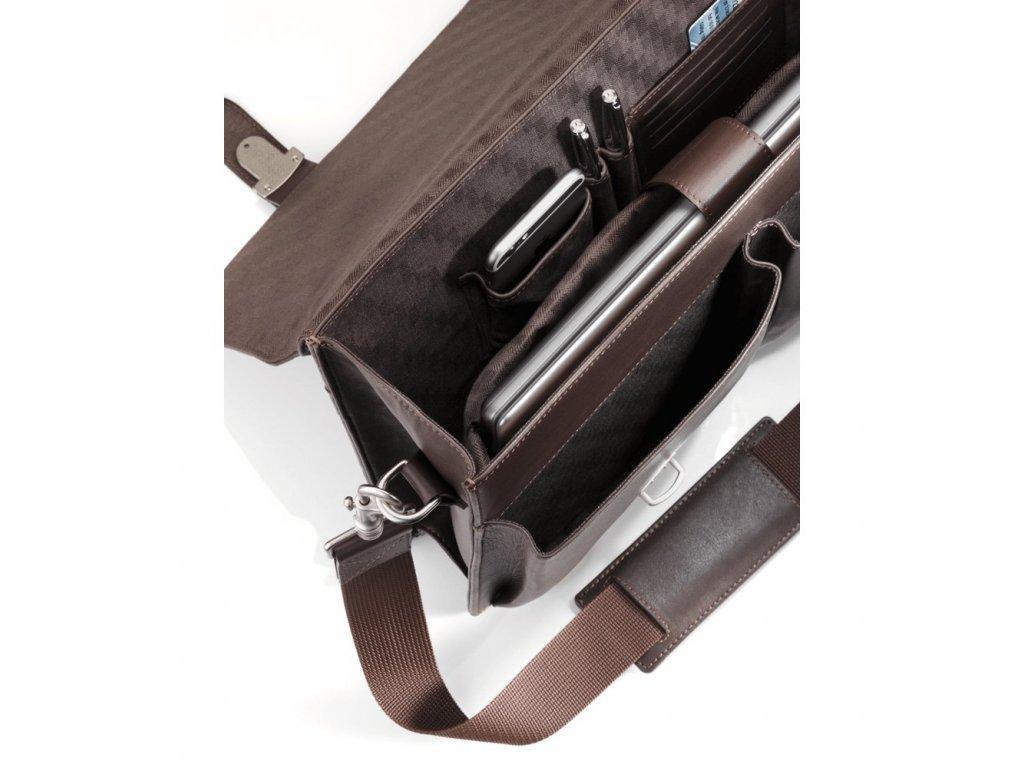 Mercedes Accessories Мужская деловая сумка из кожи с отделением для ноутбука 15 дюймов