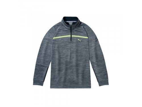 Mercedes Accessories Серый мужской свитер для гольфа с молнией на 1/4 длины