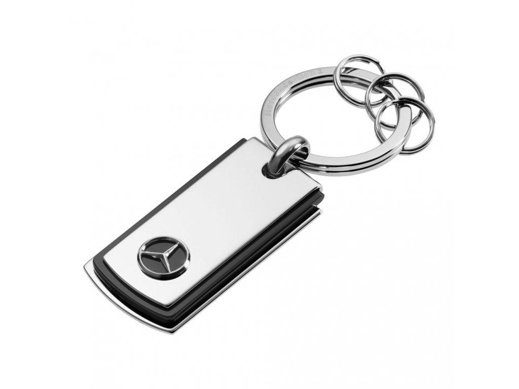 Mercedes Accessories Брелок для ключей из нержавеющей стали серебристого цвета с эмблемой Mercedes