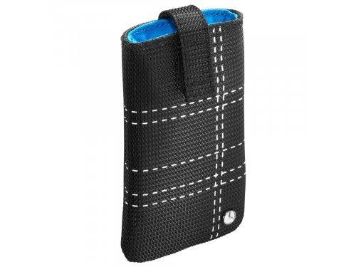 Mercedes Accessories Черный нейлоновый чехол для смартфона с ремешком для удобного извлечения