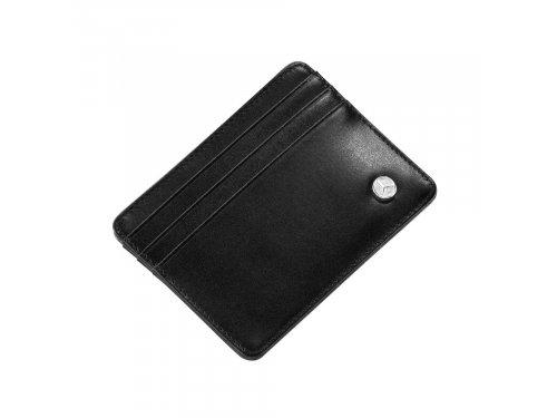 Mercedes Accessories Черная мини-кредитница из телячьей кожи с тремя отделениями для карт