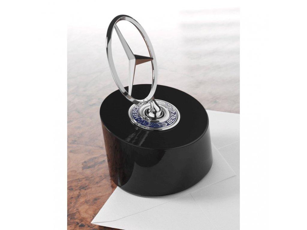 Mercedes Accessories Пресс-папье из алюминия черного цвета с оригинальной звездой Mercedes