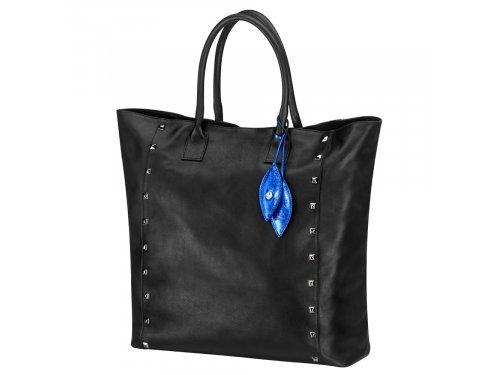 Mercedes Accessories Сумка для женщин из черной итальянской кожи с подвеской в виде листьев