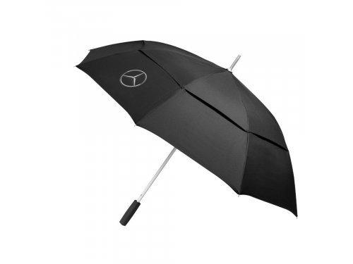 Mercedes Accessories Прогулочный зонт черного цвета с алюминиевой ручкой и эмблемой Mercedes