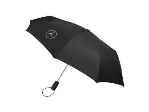 Mercedes Accessories Складной зонт черного цвета с алюминиевой ручкой и эмблемой Mercedes