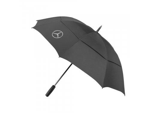 Mercedes Accessories Зонт для гольфа черного цвета с эмблемой Mercedes