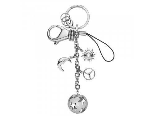Mercedes Accessories Женский серебристый брелок для ключей из нержавеющей стали с подвесками