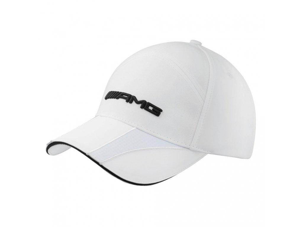 Mercedes Accessories Белая кепка с элегантной вставкой на козырьке и логотипом AMG