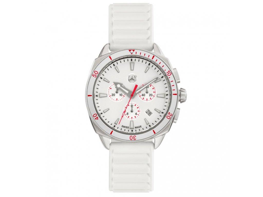 Mercedes Accessories Женские часы-хронограф белого цвета из нержавеющей стали с звездой Mercedes