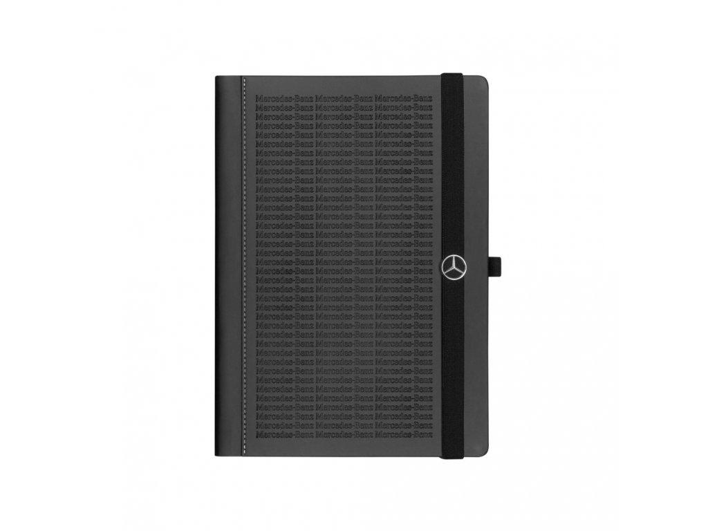 Mercedes Accessories Записная книжка с тисненой надписью Mercedes-Benz, петлей для ручки и закладкой