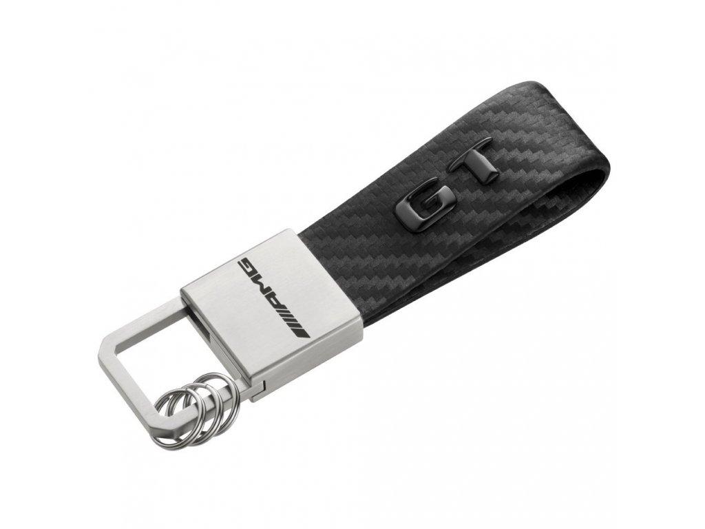 Mercedes Accessories Брелок для ключей из стали и карбоновой кожи с логотипом AMG