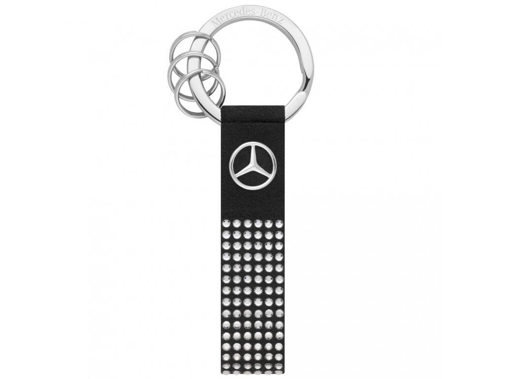 Mercedes Accessories Брелок для ключей серебристо-черного цвета, украшенный кристаллами Swarovski