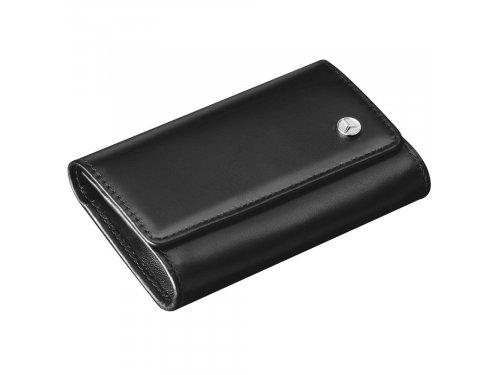 Mercedes Accessories Черный футляр для ключей из телячьей кожи со звездой Mercedes